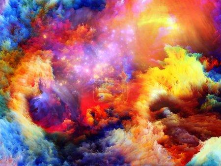 Foto de Composición de ensueño formas y colores convenientes como telón de fondo para los proyectos sobre el sueño, la imaginación, fantasía y abstracto arte - Imagen libre de derechos