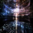 Fractal City series. Backdrop of three dimensional...
