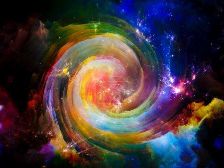 Photo pour Univers n'est pas assez série. disposition des éléments de fractale, de lumières et de textures sur le thème du fantastique, de science, de religion et de conception - image libre de droit