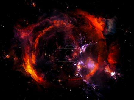 Photo pour Univers n'est pas assez série. Abstraction artistique composée d'éléments fractaux, de lumières et de textures sur le thème de la fantaisie, de la science, de la religion et du design - image libre de droit