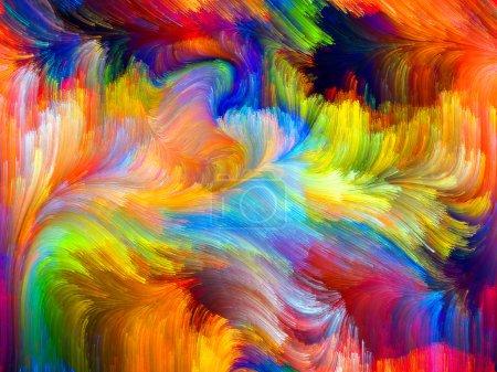 Photo pour Couleurs en fleurs série. Conception abstraite faite de textures de couleurs fractales sur le sujet de l'imagination, de la créativité et du design - image libre de droit
