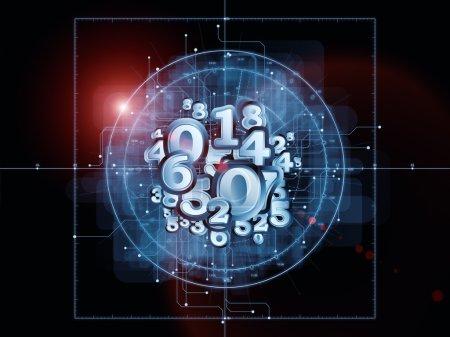 Photo pour Vreemde geometrie serie. samenstelling van lijntekening, wiskunde en geometrie gerelateerde elementen met metaforische relatie aan wiskunde, wetenschap, onderwijs en technologie - image libre de droit