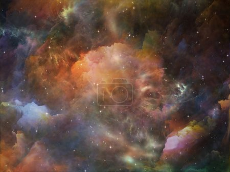 Photo for Deep Space series. Composition of nebula, stars and colors on the subject of astronomy, science, space and religion - Royalty Free Image