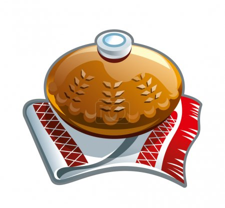 Photo for Russias traditional bread and salt illustration for other uses - Royalty Free Image