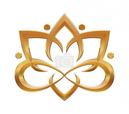 Photo pour Symbole abstrait de fleur de Lotus. illustration détaillée - image libre de droit