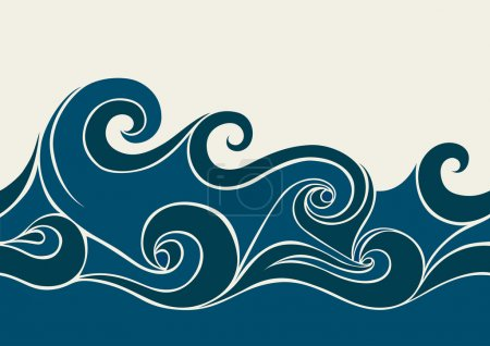 Illustration for Abstract background with stylized wave - Royalty Free Image