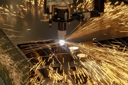 Plasma cutting metalwork industry machine