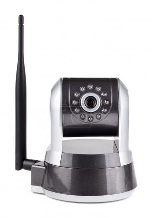 surveillance camera with antenna