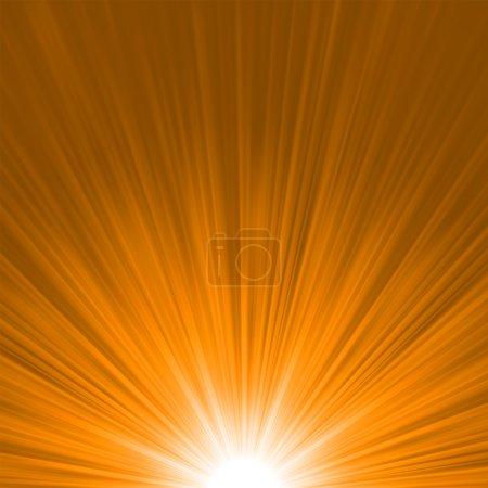 Star burst red and orange fire. EPS 8