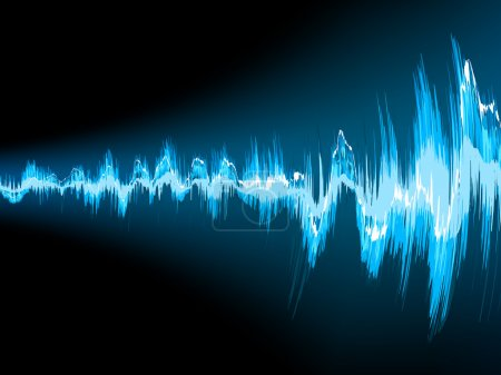 Sound wave abstract background. EPS 10