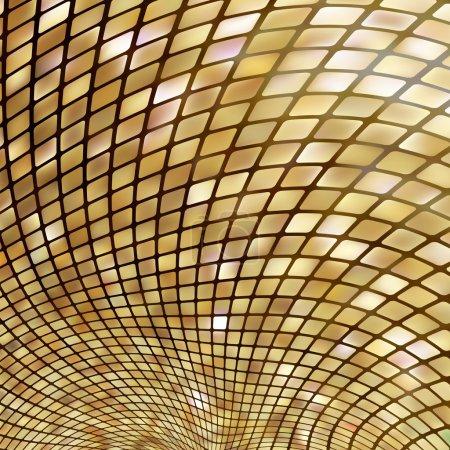 Golden business mosaic. EPS 8