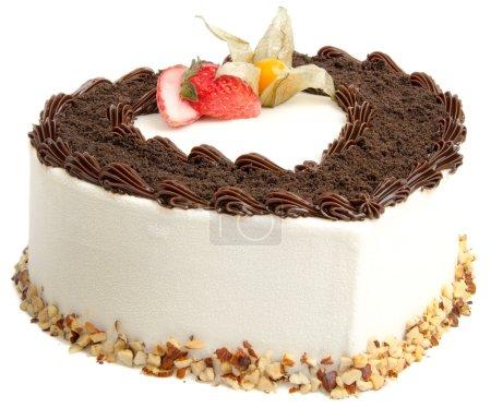 Photo pour Gâteau. gâteau de crème glacée au chocolat - image libre de droit