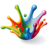 Color Splash on White Background Vector Illustration