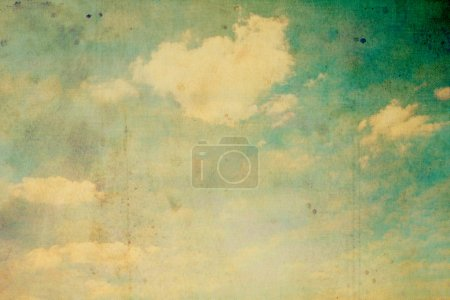 Photo for Old, stained, grungy sky and clouds background - Royalty Free Image