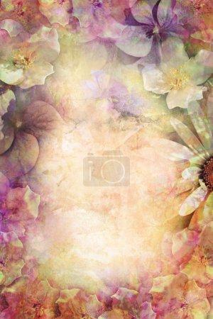 Photo pour Fond romantique de fleurs bel été - image libre de droit
