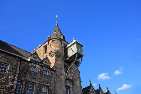Photo for Canongate tolbooth clock, Edinburgh. Scotland - Royalty Free Image