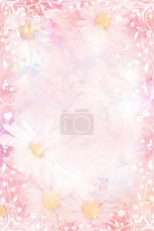 Beautiful daisies artisitc background