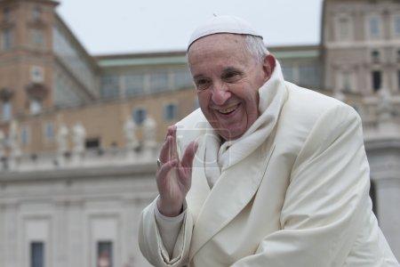 Photo pour Audience papale - image libre de droit