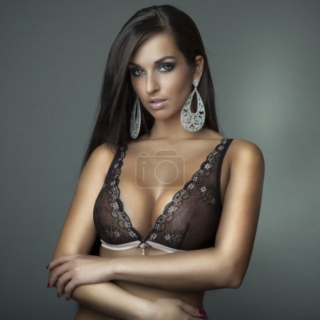 Photo for Attractive glamour girl with bra - Royalty Free Image