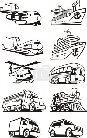 Photo for Vehicles for the transport of passengers and cargo - Royalty Free Image
