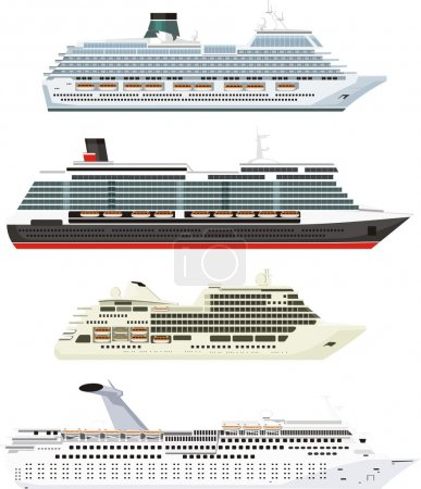 Illustration for Large ships for sea travel - Royalty Free Image