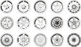 Set of a car wheel discs