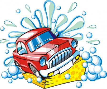 Illustration for Car washing sign - Royalty Free Image