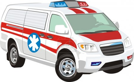 Illustration for Vehicle for fast medical help - Royalty Free Image