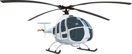 Illustration for Civil helicopter for passenger transportation - Royalty Free Image