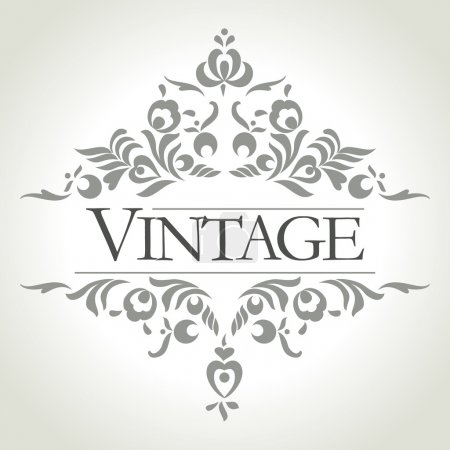 Illustration for Vintage frame design - vector illustration - Royalty Free Image