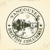 Grunge rubber stamp with Vancouver British Columbia
