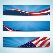 Collection of united states flag conceptual banner...