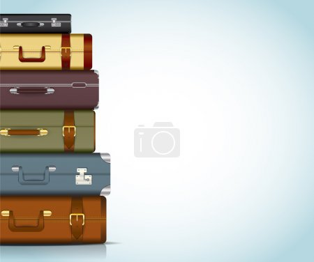 Illustration for This image is a vector file representing a collection of travel suitcases. - Royalty Free Image