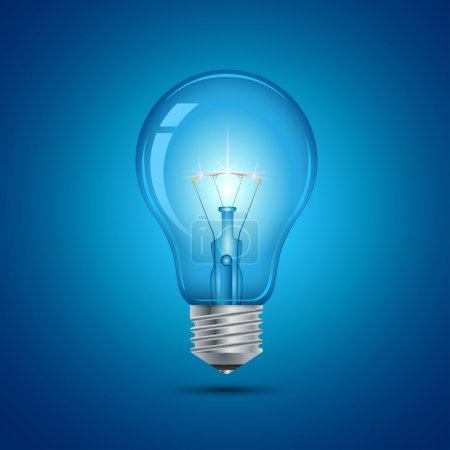 Photo for This image is a vector file representing a light bulb. - Royalty Free Image