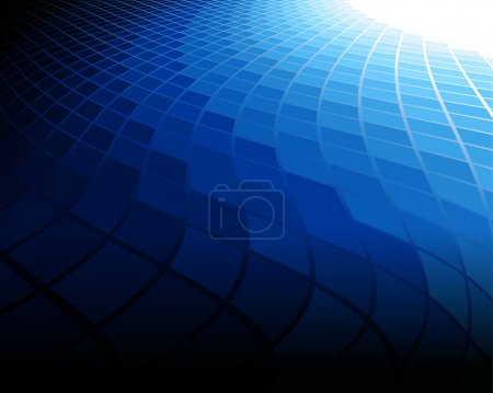 Illustration for This image is a vector file representing a blue abstract background. - Royalty Free Image