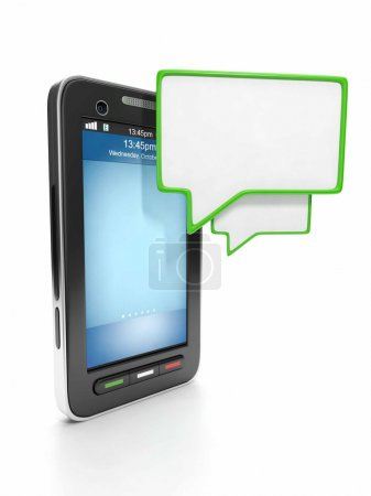 Mobile technology. Communication through instant messaging on a