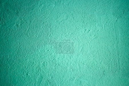 Wall painted with turquoise