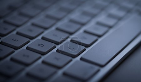 Photo for Computer keyboard close-up with empty space - Royalty Free Image
