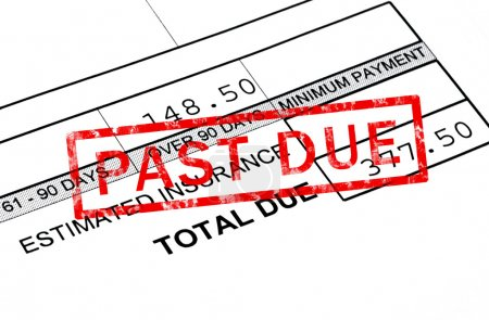Photo for Past due stamp on a bill statement - Royalty Free Image