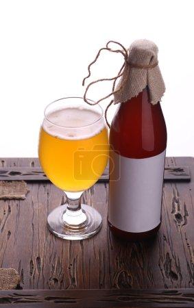 Bottle of craft beer