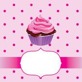 Cute cupcake background with pink themes