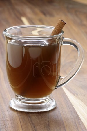 Hot fresh apple cider