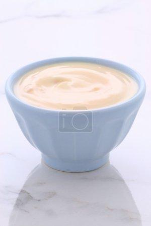 Fresh peach yogurt