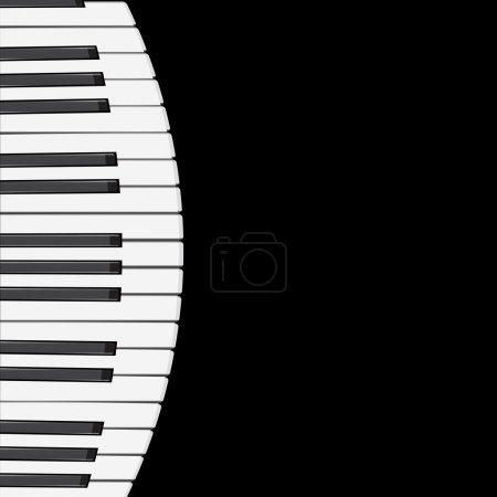 Photo pour La musique de fond avec des touches de piano illustration. - image libre de droit