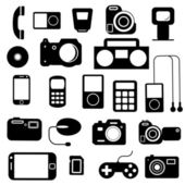 Icon with electronic gadgets illustration.