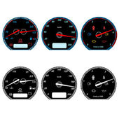 Set of car speedometers for racing design vector illustration