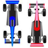 Sport car scheme top view vector illustration
