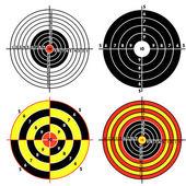 Set targets for practical pistol shooting exercise Vector illustration