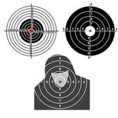 Set targets for practical pistol shooting exercise Vector illustration