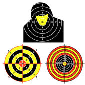 Set targets for practical pistol shooting exercise